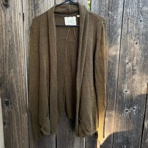 Angel of the North Anthro Open Front Knit Cardigan